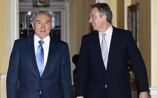 Toni Bler i Nursultan Nazarbajev