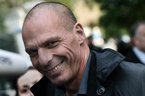 A portrait of newly appointed Greek Finance Minister Yanis Varoufakis in Athens, on January 27, 2015. Newly elected Prime Minister Alexis Tsipras, the leader of the Syriza leftist party, has raised fears of a possible Greek exit from the single currency area by vowing to reduce the huge debt payments Greece has to make following its international bailouts., Image: 216489726, License: Rights-managed, Restrictions: , Model Release: no, Credit line: Profimedia, AFP