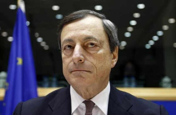 Mario Draghi waits for the start of the European Parliament's Economic and Monetary Affairs Committee in Brussels October 9, 2012. REUTERS/Francois Lenoir